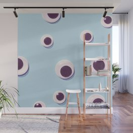 Eyes#pattern#blue Wall Mural