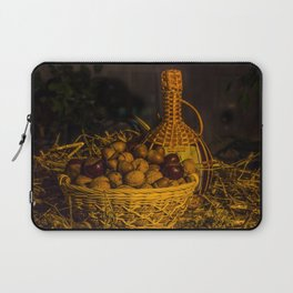 Still-life with nuts and wine Laptop Sleeve