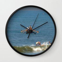 Fishermen off Black Beach Varkala Wall Clock