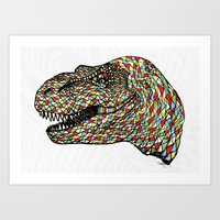 trex Art Prints featuring Trex by Hngeb