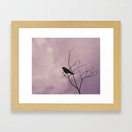 Black Bird/Stormy Day Framed Art Print