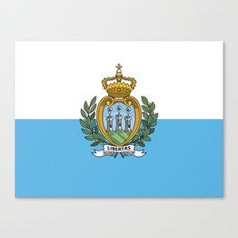 San Marino Flag Canvas Print