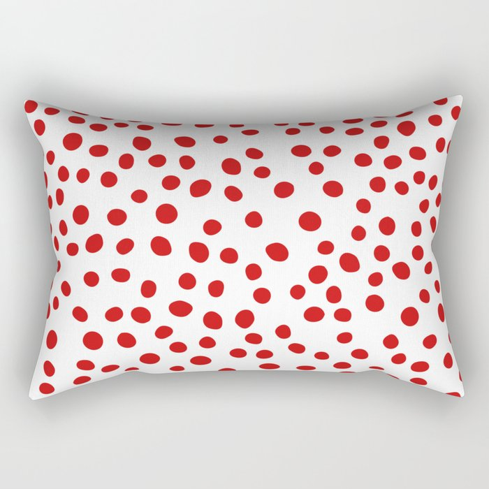 Red doodle dots Rectangular Pillow