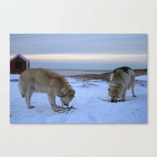 Ilulissat Greenland: The land of dog sleds and Midnight Sun Canvas Print