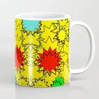 yellow pattern Mugs featuring Yellow pattern  by Vivian Fortunato