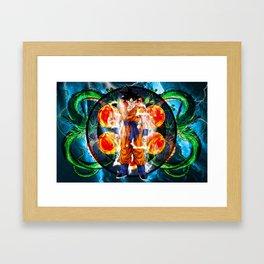 Goku Powering up Framed Art Print
