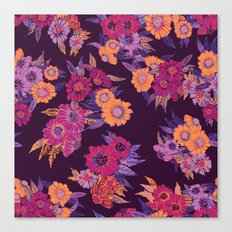 Floral in purple tones Canvas Print