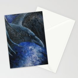 Raven (indigo) Stationery Cards