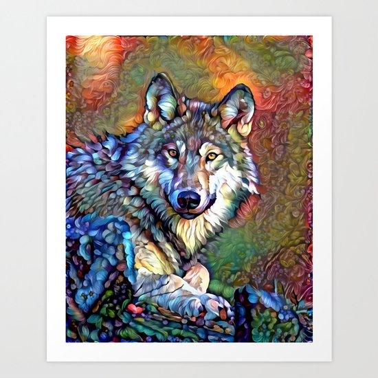 Aura of the Wolf Art Print