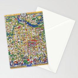 ANN ARBOR University map MICHIGAN dorm Stationery Cards