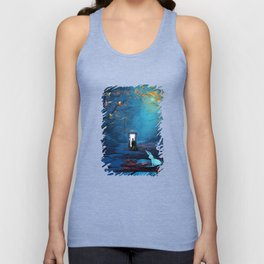 Tardis Lost In The Forest Unisex Tank Top