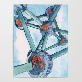 «Atomium III, Brussels». Poster