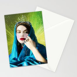 Mary Magdalene in green light Stationery Cards