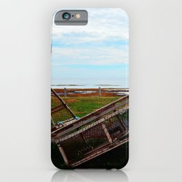 Lobster Traps and the Sea iPhone Case
