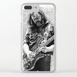 Lemmy scribble art Clear iPhone Case