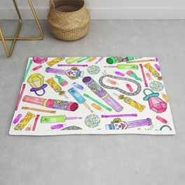 Neon 80's 90's Retro Funny Candy Pattern Rug