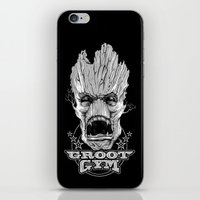gym iPhone & iPod Skins featuring GROOT GYM by ADAMLAWLESS