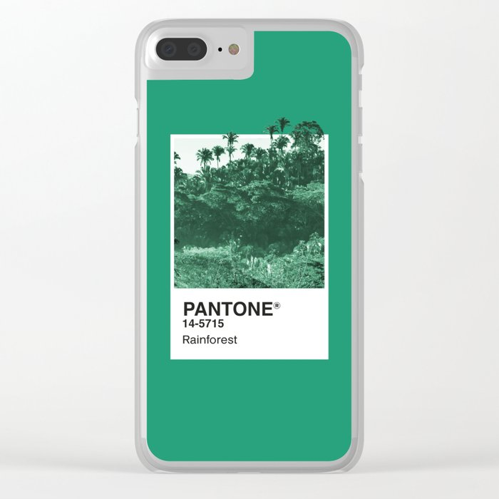 PANTONE SERIES – RAINFOREST Clear iPhone Case