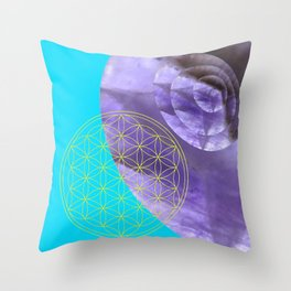 Mystical Flower of Life Amethyst #society6 Throw Pillow