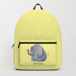 Elephant never forgets Backpack
