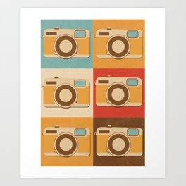Retro Vintage Camera Gift Hipster Photography Gift Art Print