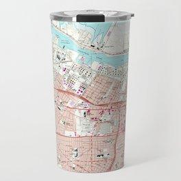Vintage Map of Corpus Christi Texas (1968) Travel Mug