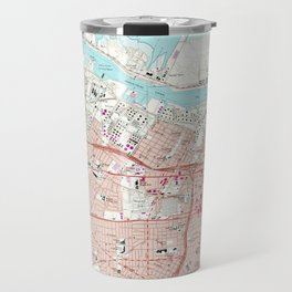Vintage Map of Corpus Christi Texas (1968) Travel Mug