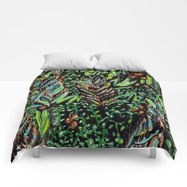 A Good Tropical Pattern With a Black Background is Hard to Find Comforters
