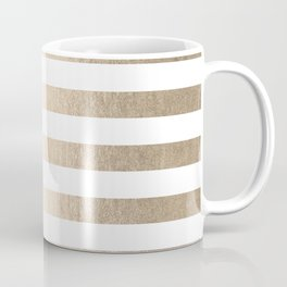 Simply Striped in White Gold Sands Coffee Mug