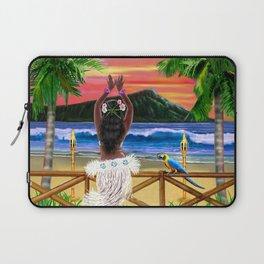 Hawaiian Sunset Hula Dancer Laptop Sleeve