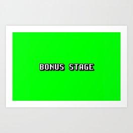 Videogame message bonus stage Art Print