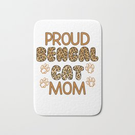 Proud Bengal Cat Mom Bath Mat