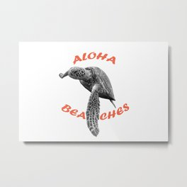 Aloha, Beaches! Metal Print