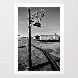 B&W junction sea Art Print