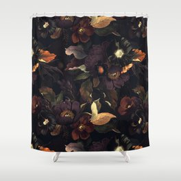 Vintage & Shabby Chic - Flowers at Night Shower Curtain
