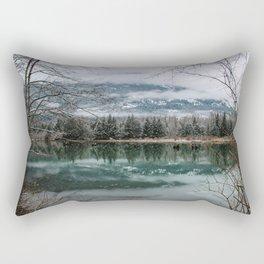 snowy reflection Rectangular Pillow