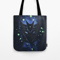 transformers Tote Bags featuring Grunge Transformers: Decepticons by Sitchko Igor