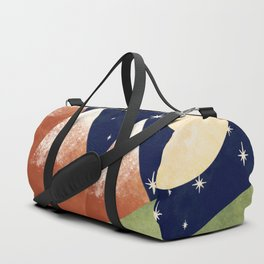 Full Moon In The Mountains Duffle Bag