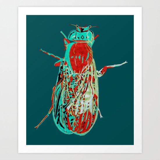 Fruit Fly 2 Art Print