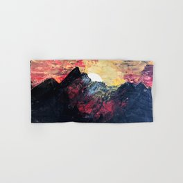Arapahoe National Forest [2]: a colorful abstract mixed media mountain range Hand & Bath Towel