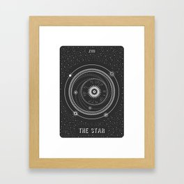 Minimal Tarot  Deck The Star Framed Art Print