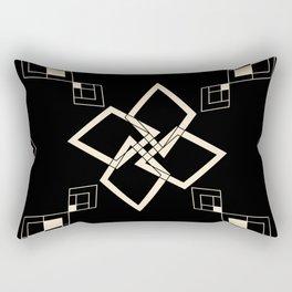 Black and White Tile Rectangular Pillow