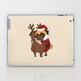 Pug Hugs Christmas Laptop & iPad Skin