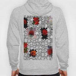 poppy love in puzzle design Hoody
