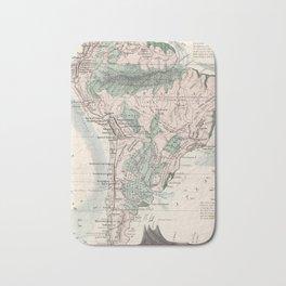 Vintage Map of South America (1858) Bath Mat