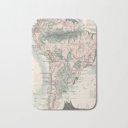 Vintage Map of South America (1858) Bath Mat