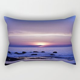 Blue and Purple Sunset on the Sea Rectangular Pillow