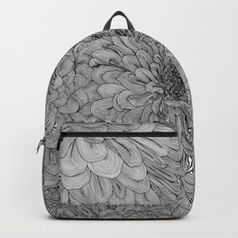 Linework Zinnias Backpack