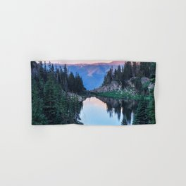 Hikers Bliss Perfect Scenic Nature View \ Mountain Lake Sunset Beautiful Backpacking Landscape Photo Hand & Bath Towel