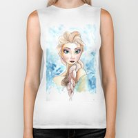 elsa Biker Tanks featuring elsa by mejony